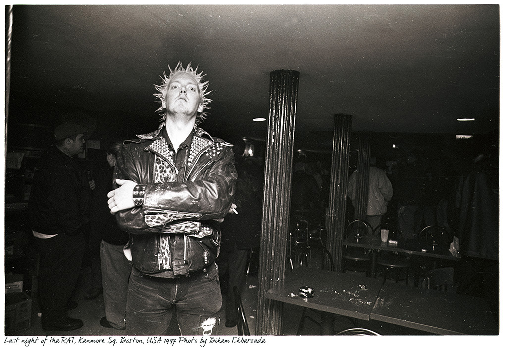 Last night at the Rathskeller, the legendary rock club and bar on Kenmore Square, Boston, MA. Photo by Bikem Ekberzade. 1997.