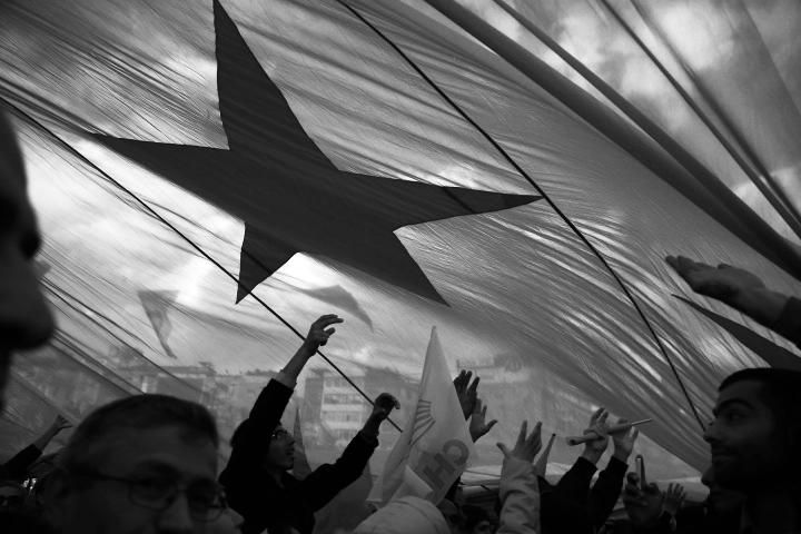 Election rally, Kadıköy, Istanbul 29/03/2014 Photo by Bikem Ekberzade