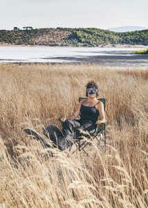 Bikem doing her thing for nature conservancy in the wetlands in southwestern Turkey. Photo by Gokhan Polat for XOXO magazine.